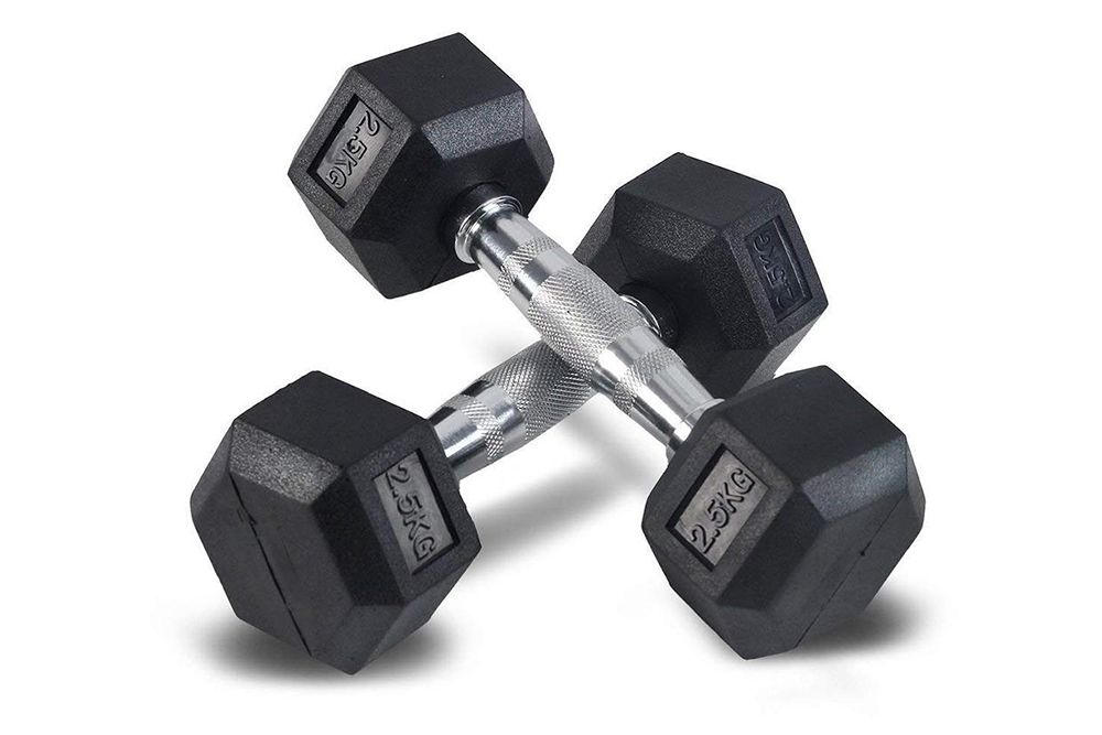Bodytrading Rubber Coated Hex Dumbbell Set